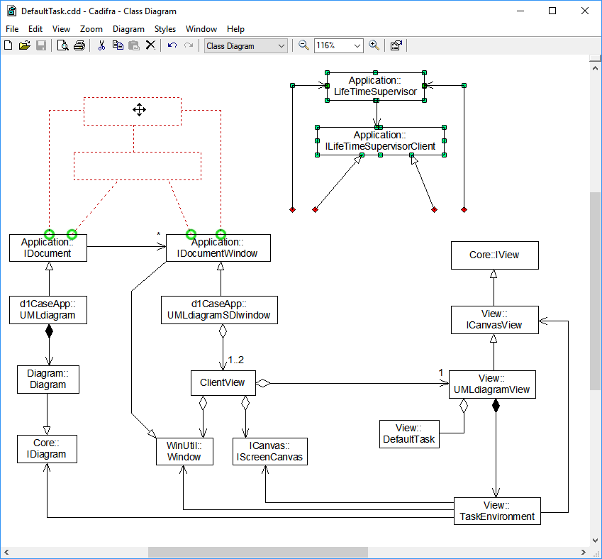 Cadifra uml editor screenshots a uml class diagram ccuart