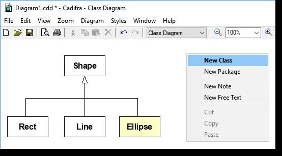 Cadifra uml editor the fast uml tool for windows ccuart Choice Image
